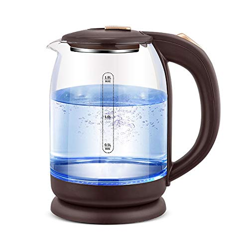 hot water kettle electric Blu Ray Glass Electric Kettle, 1.8l Household Fast Boiling Kettle, Transparent Automatic Power off Kettle, Dual Temperature Control Sensor