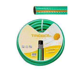 SATURNIA 8070663 Manguera Verde Trebol Trenzado 19 mm. 3/4″ Rollo 50 Metros