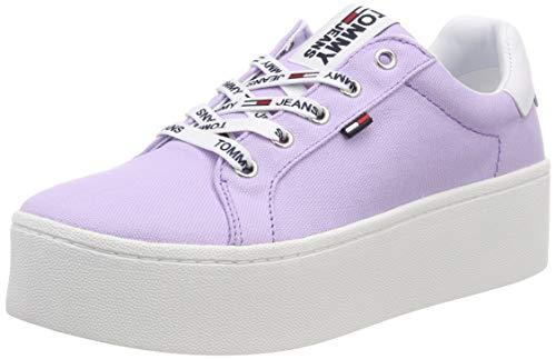 Hilfiger Denim Damen Tommy Jeans Flatform Sneaker, Violett (Pastel Lilac 519), 40 EU