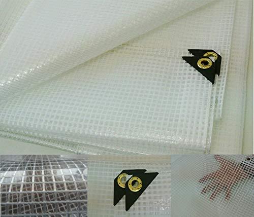 Clear Heavy Duty 14 Mil Poly Tarp Fiber Reinforced Nursery/Greenhouse/Garden (10 x 30)