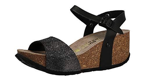 Genuins Damen Sandale/Sandalette ANTHRACITA (Schwarz) G102650
