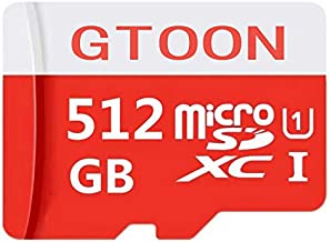 512GB Micro SD SDXC Memory Card High Speed Class 10 with Micro SD Adapter (512GB)