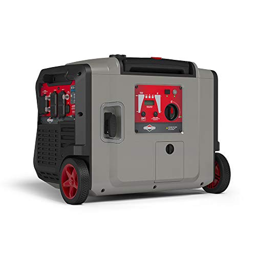 Briggs & Stratton 30795 P4500 PowerSmart Series, Electric Start, Powered Engine Inverter Generator, Gray