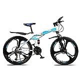 Bicicleta Bicicleta de montaña Offroad Offroad de la rueda de 26 pulgadas, para la velocidad plegable de la velocidad de la velocidad de 24 velocidades, el paseo de carreras de acero al carbono de la