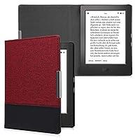 kwmobile 対応: Kobo Aura H2O Edition 1 ケース - キャンバス 電子書籍カバー - オートスリープ reader 保護ケース