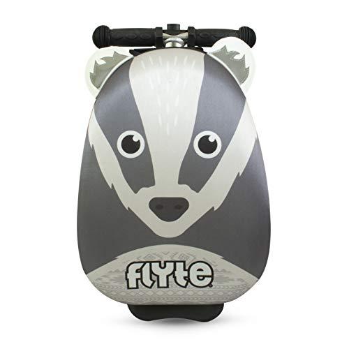 Zinc Flyte Unisex-Youth Mini Boris the Badger Scooter Luggage case, Grey/Black, 15 inch