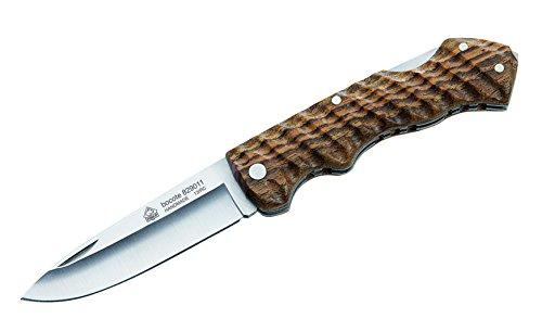 Puma IP Taschenmesser, Stahl AN.58, Back Lock, Fingermulden, Bocoteholz-Griffschalen