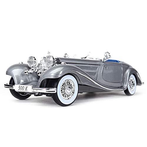 hclshops Modelo de Coche 1:18 Saides - Mercedes-Benz 500K de simulación de aleación de fundición a presión de Adornos de Juguete Museo de Coches Clásicos 29x10.6x7.4CM joyería