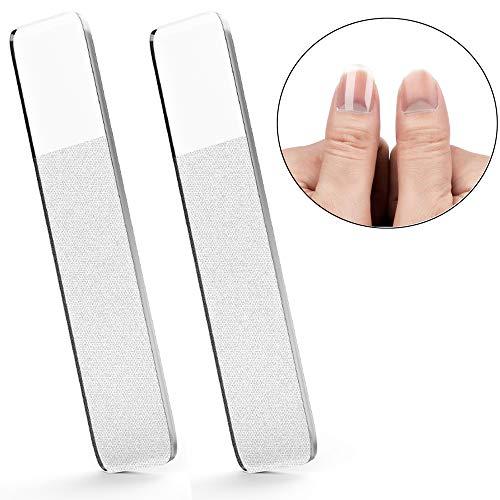 Professionelle Glasnagelfeile Nagelfeile für Naturnägel, Babys, Kinder, Erwachsener und Pediküre Nagelpflege,2 Stück