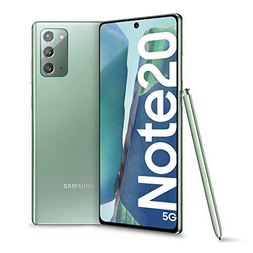 "Samsung Galaxy Note20 5G Smartphone, Display 6.7"" Super Amoled Plus Fhd+, 3 Fotocamere Posteriori, 256 GB Ram 8Gb, Batteria 4300 Mah, Dual Sim + Esim, Android 10, Verde"