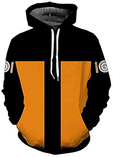 HOSO Naruto Hoodies Akatsuki Cosplay Anime Outfits Unisex 3D Printed Jacket Sasuke Pullover Sweatshirt