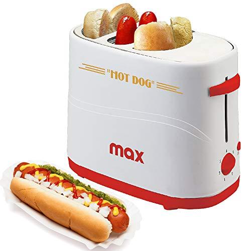 tostapane hot dog Bakaji Macchina Per Hot Dog con Alloggio Wurstel e Pane Potenza 650W Hotdog Maker 5 Livelli di Cottura per Casa Party Feste Max