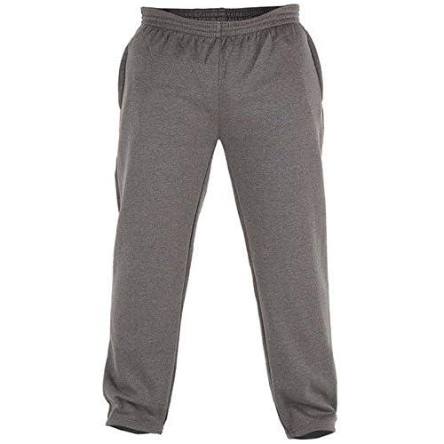 Big King Size Mens Albert Rockford Duke Grey Gym Tracksuit Jogging Bottoms Pants Joggers