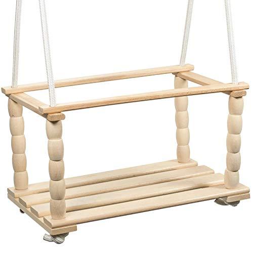 Woudi I Altalena per bambini Natur, altalena per bambini, altalena per bambini, altalena per bambini, altalena e sedia a dondolo, in legno per interni ed esterni