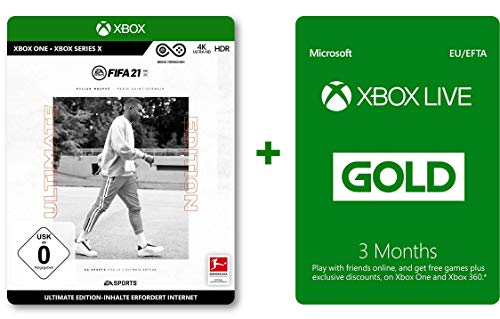 FIFA 21 Ultimate (Xbox One Disk) and Xbox Live Gold 3 Monate (Download Code)
