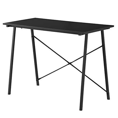 Escritorio moderno para ordenador, vintage, resistente, mesa de oficina, PC, portátil, escritura, mesa de estudio, para casa, oficina, estación de trabajo, color negro