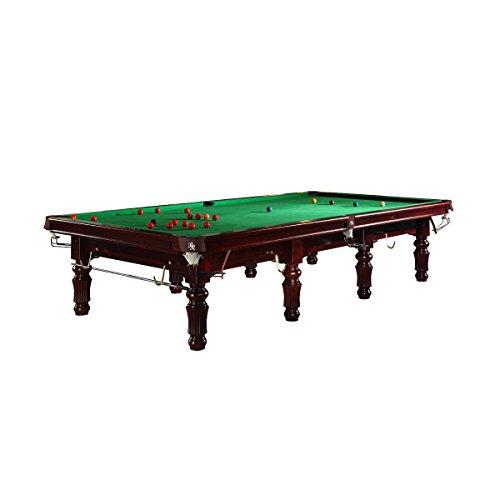 Snooker Billardtisch Modell Bardossa II mit grünem Tuch - Tisch im Snooker Stil (Holzfarbe Mahagoni, 12 ft.)