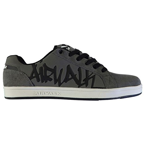 Airwalk Mens Neptune Shoes Lace Up Skate Sports Trainers Footwear Charcoal UK 10 (44)