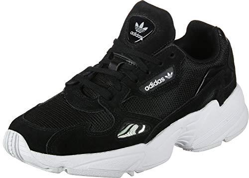 adidas Falcon W, Sneaker Donna, Multicolore (Black Cblack/Cblack/Ftwwht), 37 1/3 EU