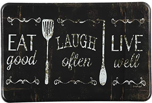 J&V TEXTILES Eat Laugh Live 24'x36' Antifatigue Kitchen Mats