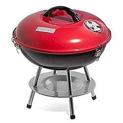 """top 10 portable charcoal grills Cuisinart CCG190RB Portable Charcoal Grill, 14 """", Red, 14.5″ x 14.5 """"x 15″"""