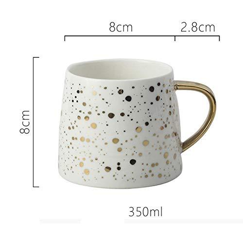 AOARR Getöpferte Tassen Cup 350Ml Keramik Tasse Milchbecher Nordic Wave Point Kaffeetassen Tasse Und Tasse-Weiß