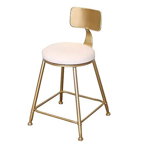 N/Z Tägliche Ausrüstung Hocker Pub Bar Höhe Barhocker Modern Contemporary Dining CAF Eacute;Hocker Stühle mit Kunstledersitz und Rückenlehne Eisen Finish Pink 75cm