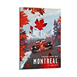 Auceo F1 Poster Montreal Grand Prix, Kanada Poster,