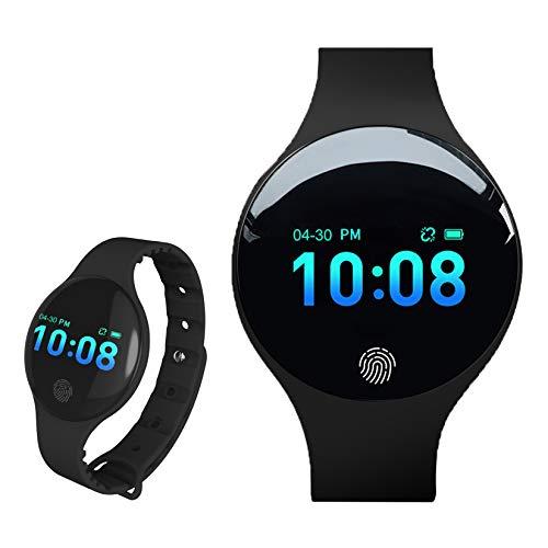 Relojes Inteligentes, L'ananas 2020 Adolescentes Chicas Muchachos Bluetooth Pantalla táctil Electrónico Relojes Teenagers Smart Watches (Negro)