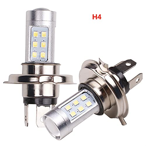 RH-HPC Faros LED 2 unids H4 H7 2835 21SMD LED Luces antiniebla Lámpara de conducción Blanca Brillante Bulbos H7 Bulbo Llevado (Emitting Color : White, Socket Type : H7)
