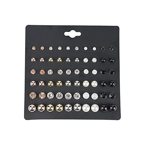 1 juego de pendientes para mujer con perlas de circonio multicolor