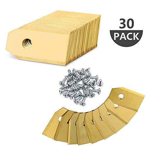 30 Stück Titan Messer Klingen Ersatzmesser für Husqvarna Automower Gardena Mähroboter inkl. Schrauben