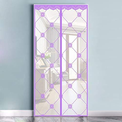Vliegengaas, magnetisch gaasdeur, vliegengaas voor deuren en deuren voor magnetische vliegengaas, deur in elkaar grijpbaar 100×200CM paars
