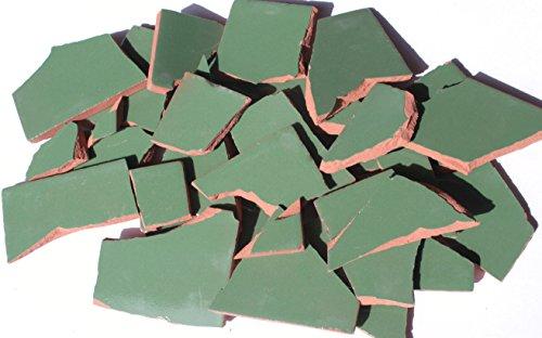 900g Bruchmosaik, Mosaikfliesen aus handgefertigten Fliesen - grün obscuro