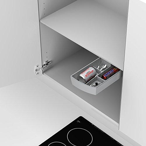 SO-TECH® Unterbau Drehbehälter Schwenkschale grau 137 x 47 x 300 mm