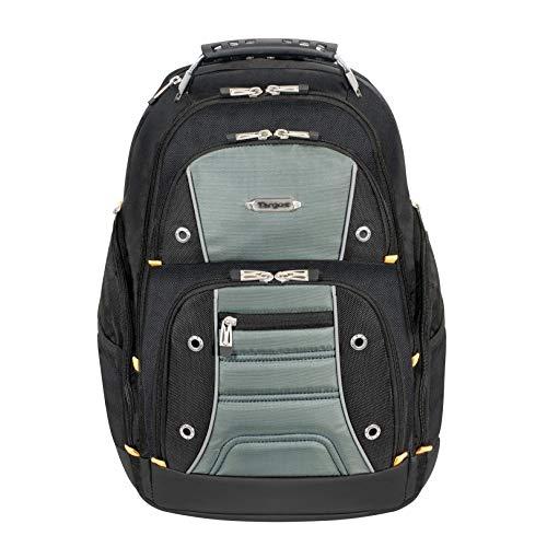 targus cool backpacks Targus Drifter II Backpack Design for Business Professional Commuter with Large Compartments, Durable Water Resistant, Hidden Zip Pocket, Protective Sleeve fits 16-Inch Laptop, Black/Gray (TSB238US)
