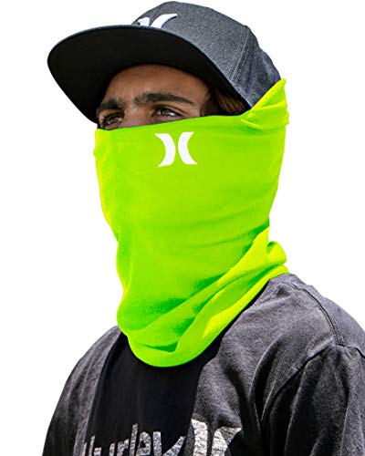 'Hurley Lightweight Multipurpose Neck Gaiter with Moisture Wicking Technology (Lime Green, One Size)'