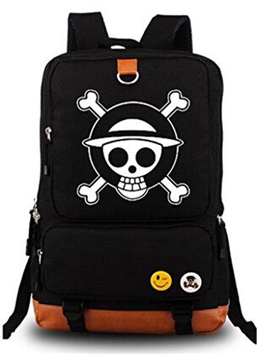 YOYOSHome Anime One Piece Cosplay Luminous Shoulder Bag Rucksack Backpack School Bag