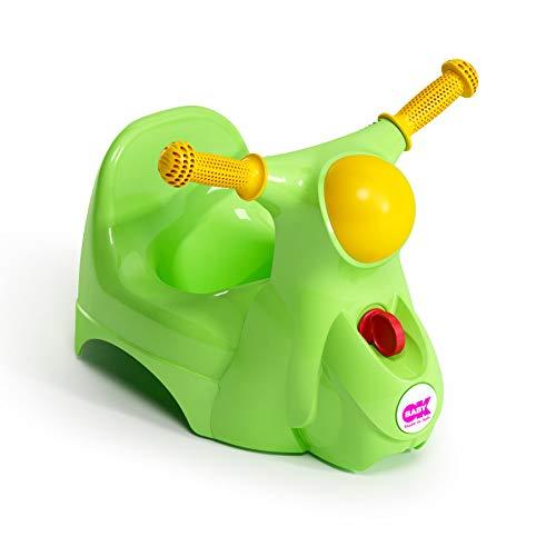 OKBABY Scooter - Vasino per Bambini con Seduta Ergonomica, a Forma di Moto - Verde
