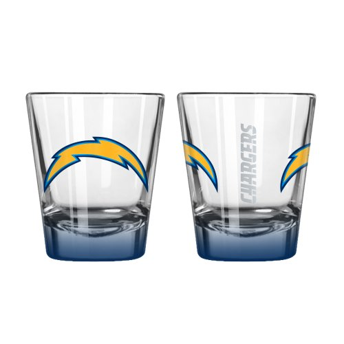 Boelter Brands NFL San Diego Chargers Elite Shot Glass, 2-Ounce, 2-Pack