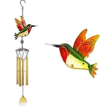 30 Hummingbird Wind Chimes Outdoor/Indoor Decor Pure Hand-Made Mobile Wind Catcher Hummingbird Wind-Bell Painted Hummingbird Wind Chime for Home Xmas Gift for Mom Patio,Balcony Garden Decoration