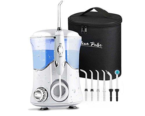 Clean Pulse Pro monddouche incl. 8 sproeiers en reistas door tandartsen en artsen over de hele wereld aanbevolen. Irrigador