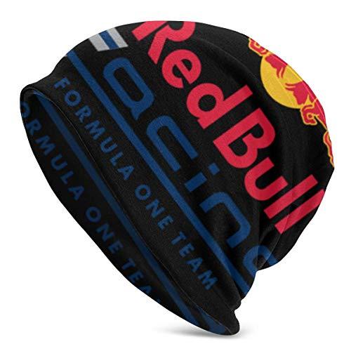Gorra suave y cálida para hombres adultos, gorro de punto RedBull Racing, gorro de punto duradero para hombres y mujeres, negro