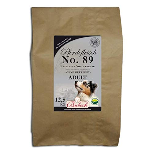 Trockenfutter für Hunde | mit Pferd & Kartoffel | Hundefutter getreidefrei | Single Protein 100 % Pferdefleisch | Vollnahrung für futtersensible Hunde aller Rassen | 12,5 Kg Hundefutter trocken gebacken