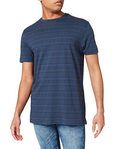 Springfield Camiseta Regular étnico, Estampado Azul, S para Hombre