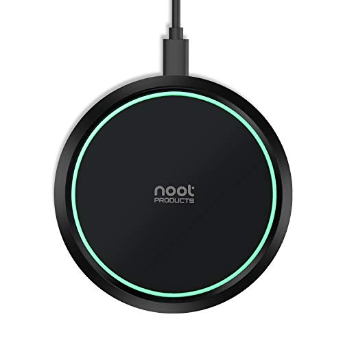 Noot Products Wireless Charger 7.5W Wireless Charging Compatible with iPhone 11(Pro,Pro Max) XS/XR/XS/X/8/8 Plus,10W Compatible Galaxy Note 10/Note 10 Plus/S10/S10 Plus/S10E/S9(No AC Adapter)