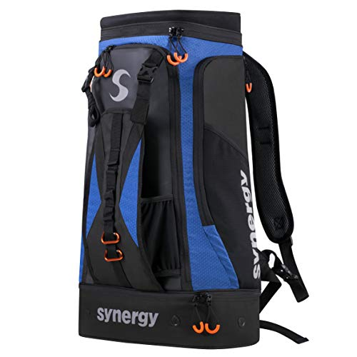 Synergy Triathlon Transition Bag Backpack (Black/Blue)