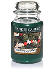 Yankee Candle bougie jarre parfumée | grande taille | Guirlande de Noël | jusqu'à 150 heures de combustion