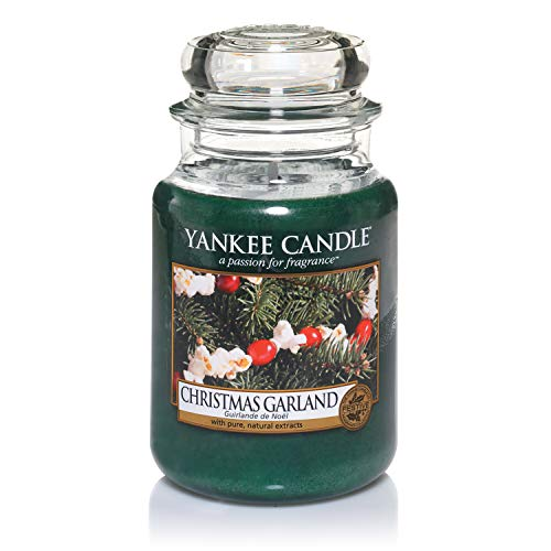 Yankee Candle Christmas Garland Candela in giara grande, Fino a 150 ore di combustione