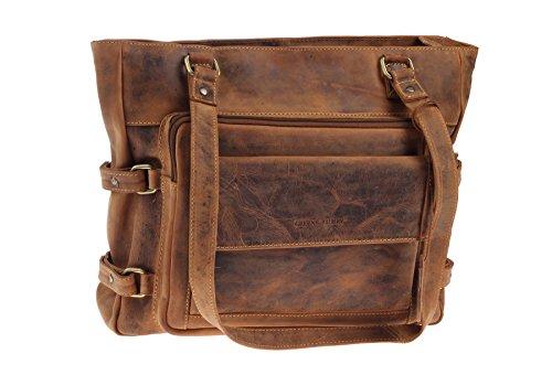 Greenburry Vintage Shopper Leder große Tasche 38x8x32cm Handtasche